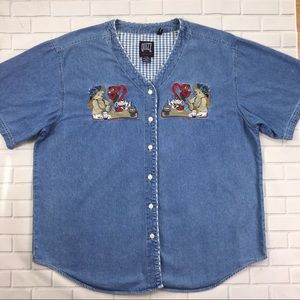 Quizz New York Woman Button Down Shirt Sz 20